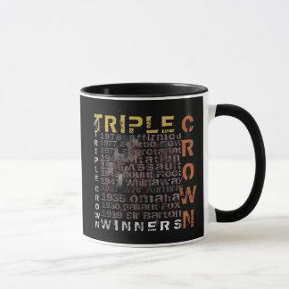 Mug Course de chevaux de gagnants de Triple Crown
