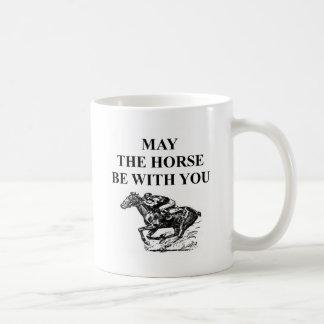 Mug course de chevaux de pur sang