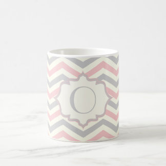 Mug Coutume rose, grise, ene ivoire moderne de motif