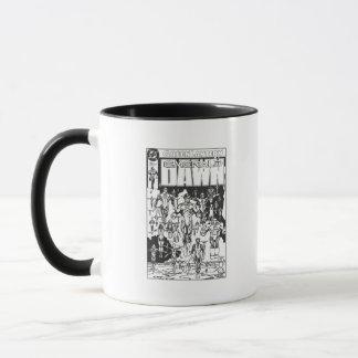 Mug Couverture verte d'aube, noire et blanche