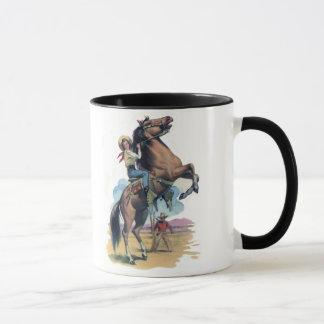 Mug Cow-girl sur le cheval