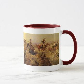 Mug Cowboys vintages, lancés vers le bas par cm