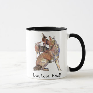 Mug Coyotes vivants d'hurlement de citation