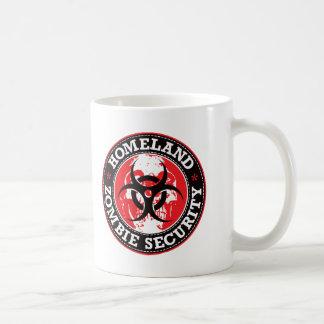 Mug Crâne de sécurité de zombi de patrie - rouge
