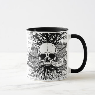 Mug Crâne et livres