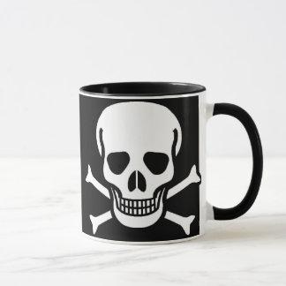 Mug Crâne et noir d'os croisés