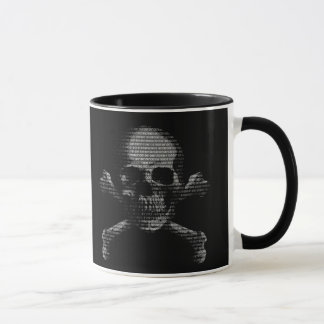 Mug Crâne et os croisés de pirate informatique