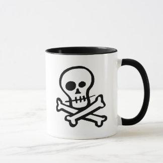 Mug Crâne simple et os croisés de B&W