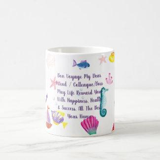 Mug Créature de mer personnalisée par cadeau de voyage