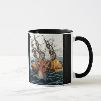 Mug Créature victorienne de mer de poulpe de Steampunk