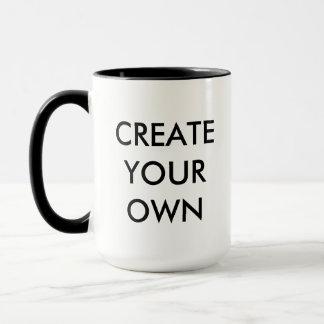 Mug Créez votre propre NOIR combiné personnalisable de