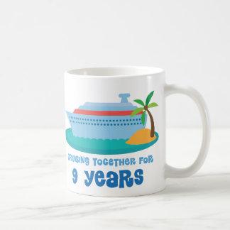 Mug Croisière ensemble pendant 9 années de cadeau