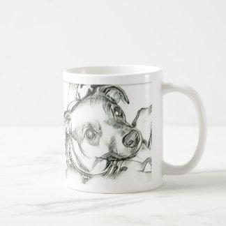 Mug Croquis de crayon de terrier de Jack Russell