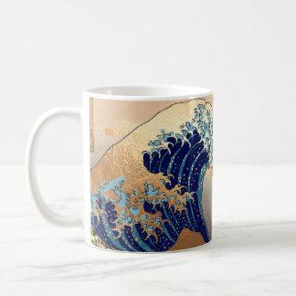Mug Cru de PixDezines, grande vague, 葛飾北斎の神奈川沖浪 de