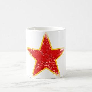 Mug Cru rouge communiste d'étoile