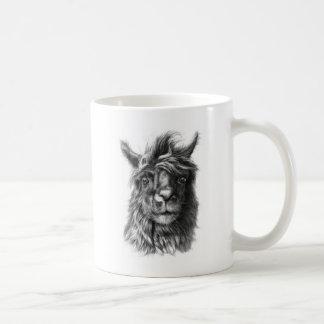 Mug Cute Llama portrait