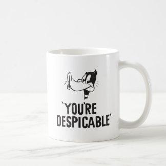"""Mug DAFFY classique DUCK™ """"vous êtes ignobles """""""