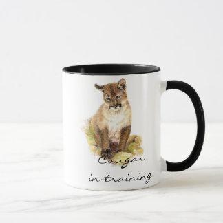 Mug Dans-formation drôle de puma avec CUB, chaton