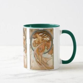 Mug Danse (1898), beaux-arts Nouveau d'Alphonse Mucha