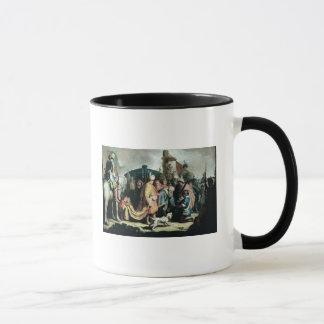 Mug David offrant la tête de Goliath au Roi Saul