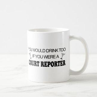 Mug De boissons sténographe judiciaire trop -