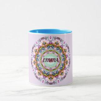 Mug ~ de fractale personnalisé par ~ d'EMMA Paua Shell