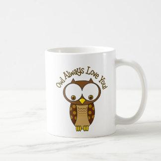 Mug De hibou amour toujours vous