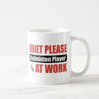 Mug De tranquillité joueur de badminton svp au travail
