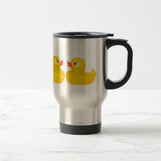 Mug De Voyage 2 canards en caoutchouc dans l'amour