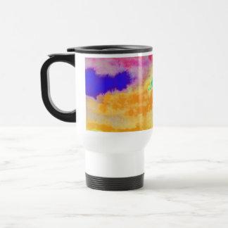 Mug De Voyage Abrégé sur coloré aquarelle
