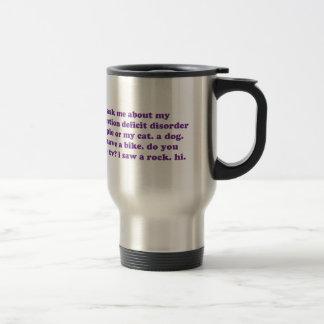 Mug De Voyage AJOUTEZ la citation drôle de TDAH - pourpre