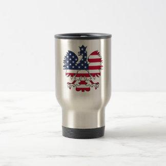 Mug De Voyage Américain polonais Eagle