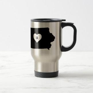 Mug De Voyage Amour de l'Iowa