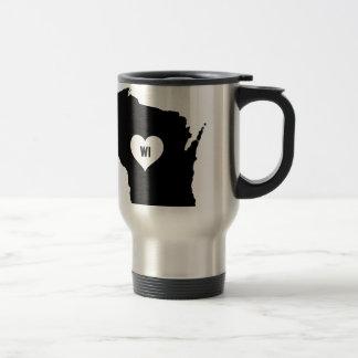 Mug De Voyage Amour du Wisconsin