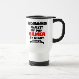 Mug De Voyage Analyste de programmeur par le Gamer de jour par