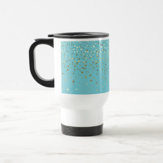 Mug De Voyage Aqua Tasse-Lumineux de petit d'étoiles café d'or