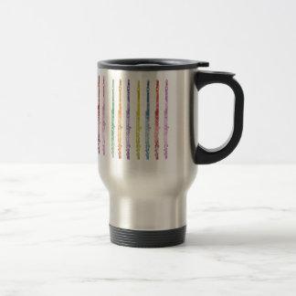 Mug De Voyage Arc-en-ciel des cannelures