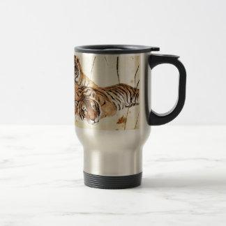 Mug De Voyage Art classique de style chinois, tigres étendus