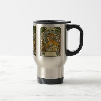 Mug De Voyage Art Nouveau - zodiaque de Mucha - plume de La