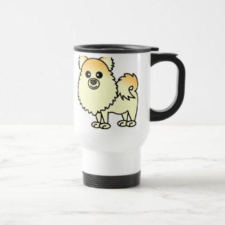 Mug De Voyage Bande dessinée mignonne de Pomeranian