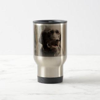 Mug De Voyage Beau portrait noir de labrador retriever