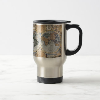 Mug De Voyage Belle carte antique d'atlas