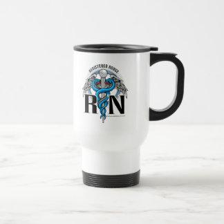 Mug De Voyage Bleu de caducée de RN