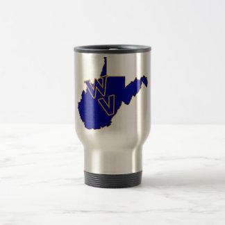 Mug De Voyage Bleu et or de fierté de la Virginie Occidentale