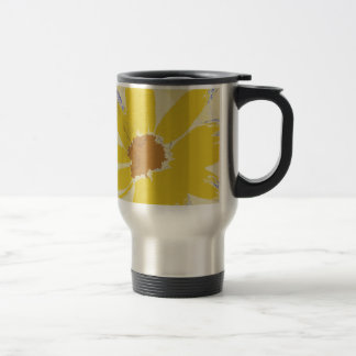Mug De Voyage Bonjour, belle fleur jaune