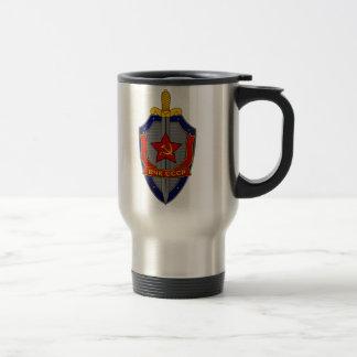 Mug De Voyage Bouclier de KGB sur le rouge