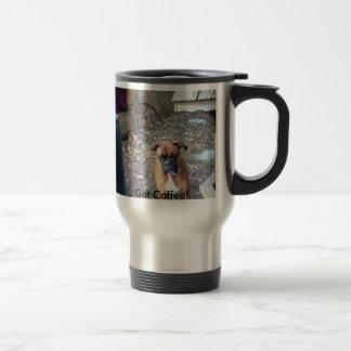 Mug De Voyage Boxeur, obtenu le café !