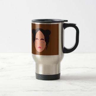 Mug De Voyage Brun d'ethno de geisha