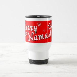 Mug De Voyage Cadeaux de Namaste de Joyeux Noël