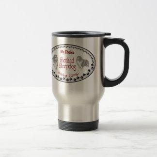 Mug De Voyage Cadeaux de Sheltie de chien de berger de Shetland